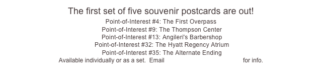 The first set of five souvenir postcards are out!